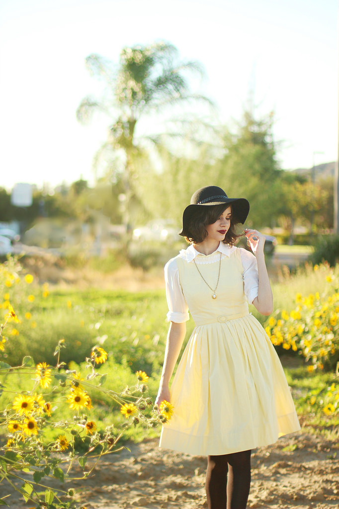 Styling vintage clothing for fall via Into the Woods