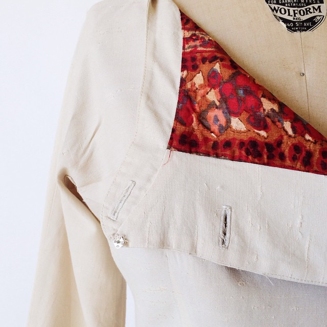Vintage Betty Barclay jacket details