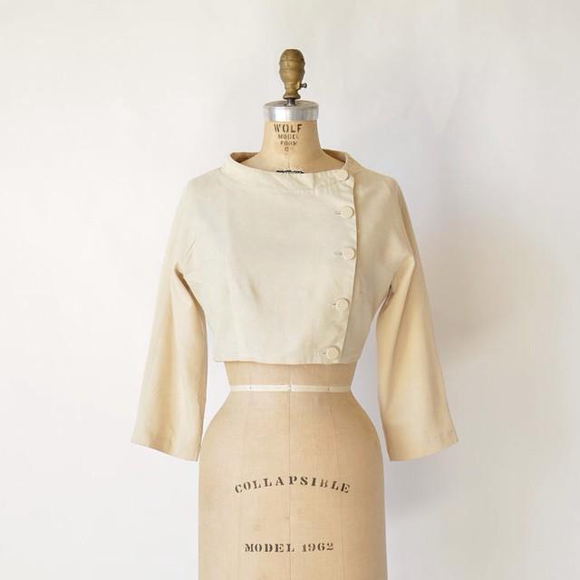 1960s Vintage cream jacket via Dalena Vintage