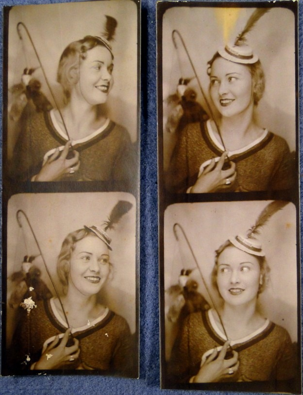 Photobooth images, 1930s