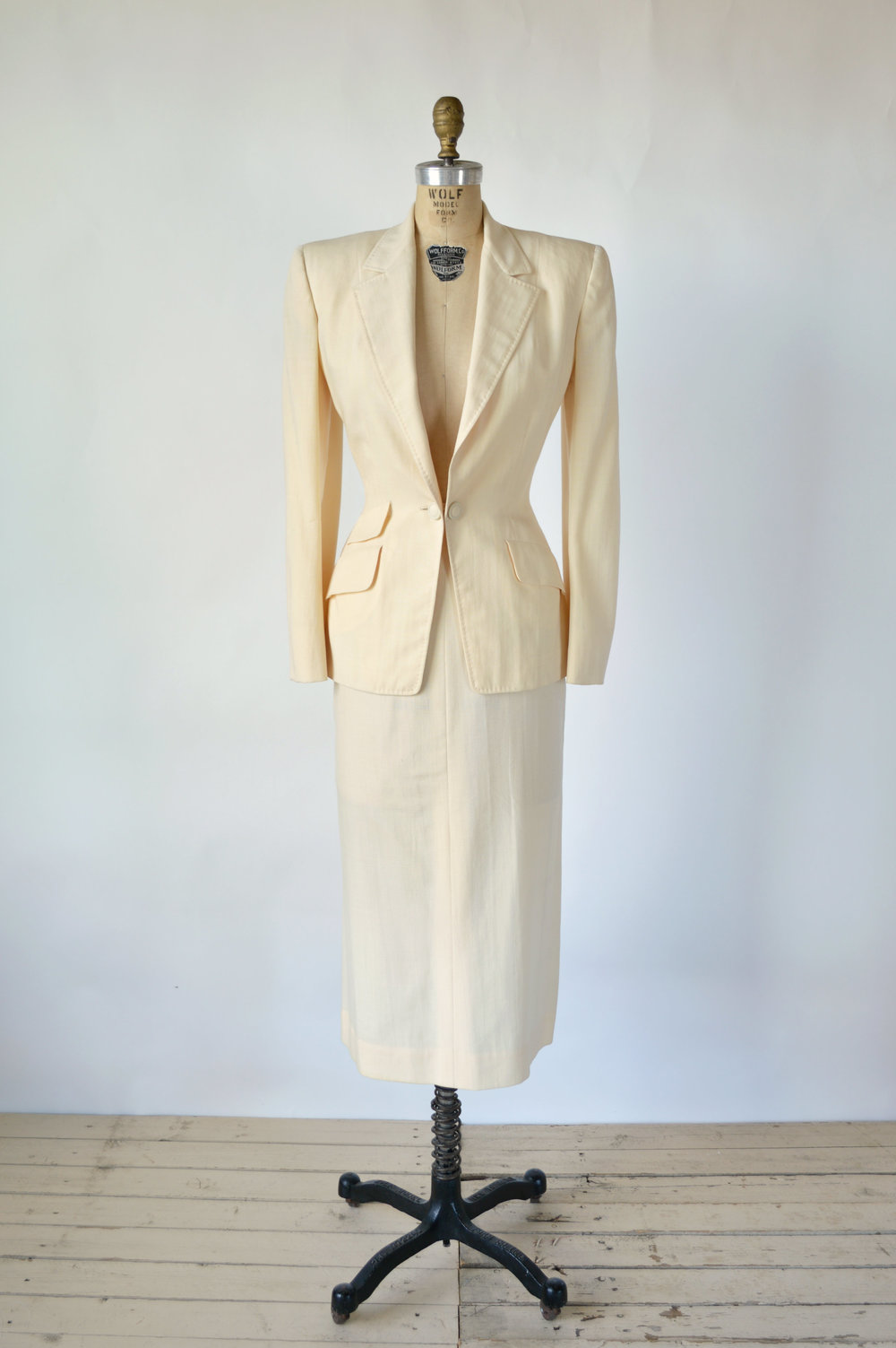 1940s Wedding Suit from Dalena Vintage