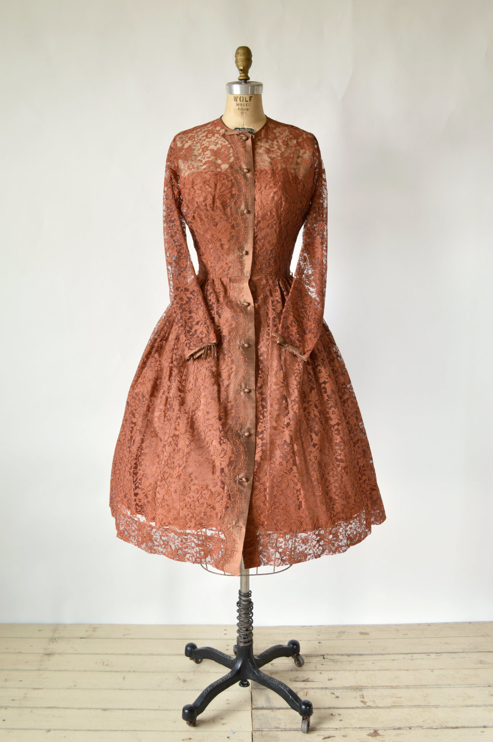Vintage 1950s Lace Party Dress