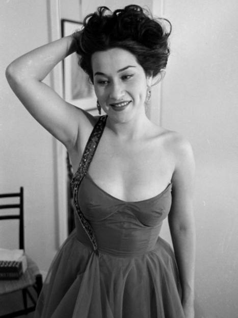 Vintage style icon Yma Sumac in the 1950s.
