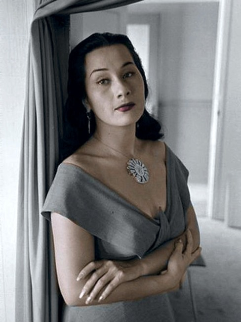 Peruvian beauty and songstress, Yma Sumac.
