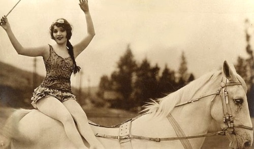 Woman on a horse, 1920s