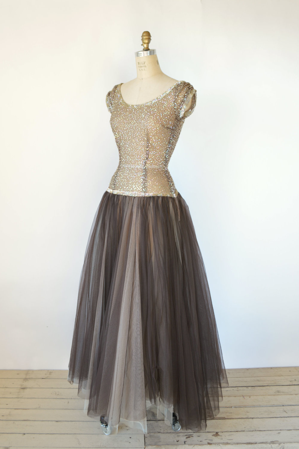 1940s Vintage Ball Gown