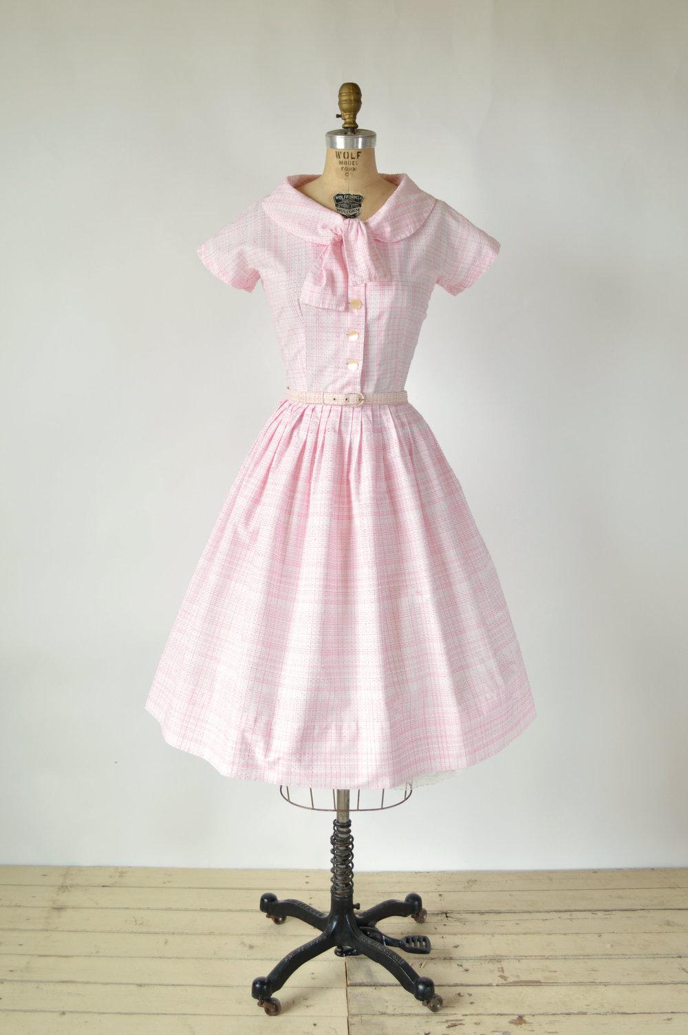 Vintage Pink 1950s Dress