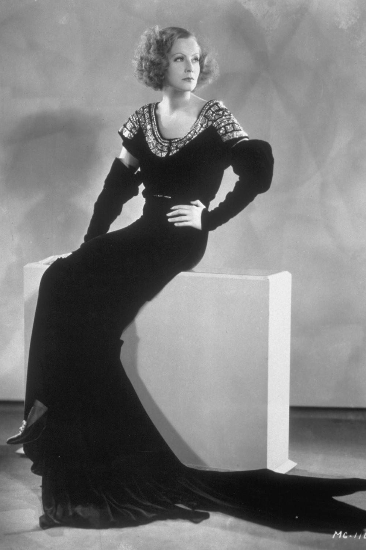 Hollywood starlet, Greta Garbo, in the 1930s.