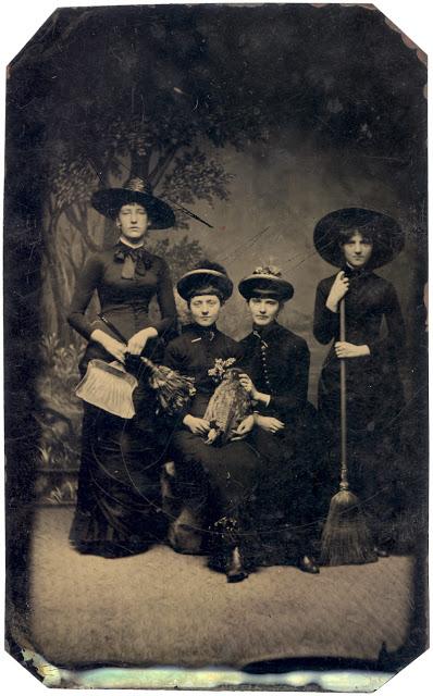 Vintage Halloween tintype