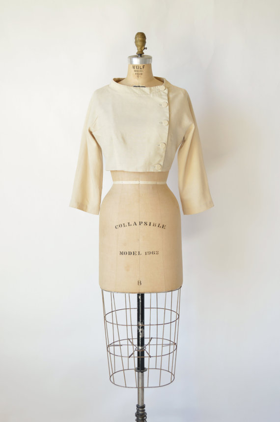 1960s cream jacket from Dalena Vintage
