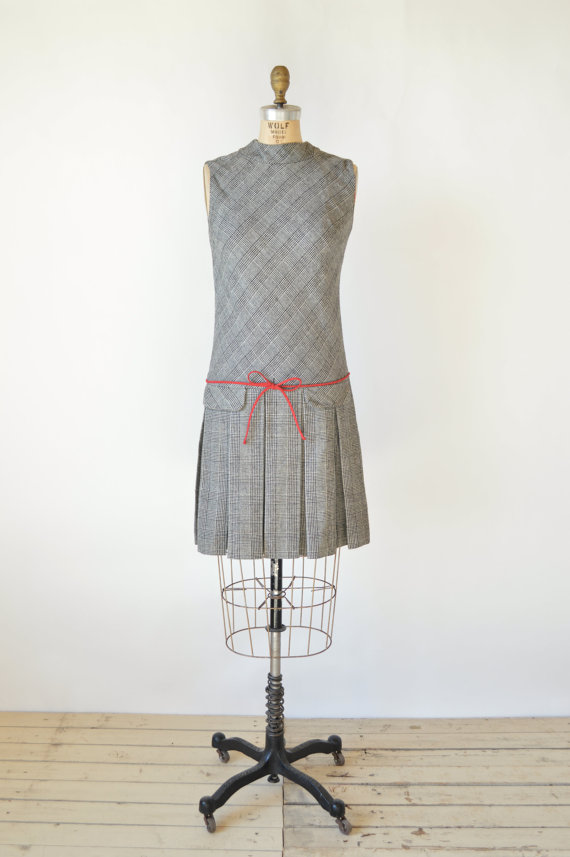 1960s plaid dress via Dalena Vintage