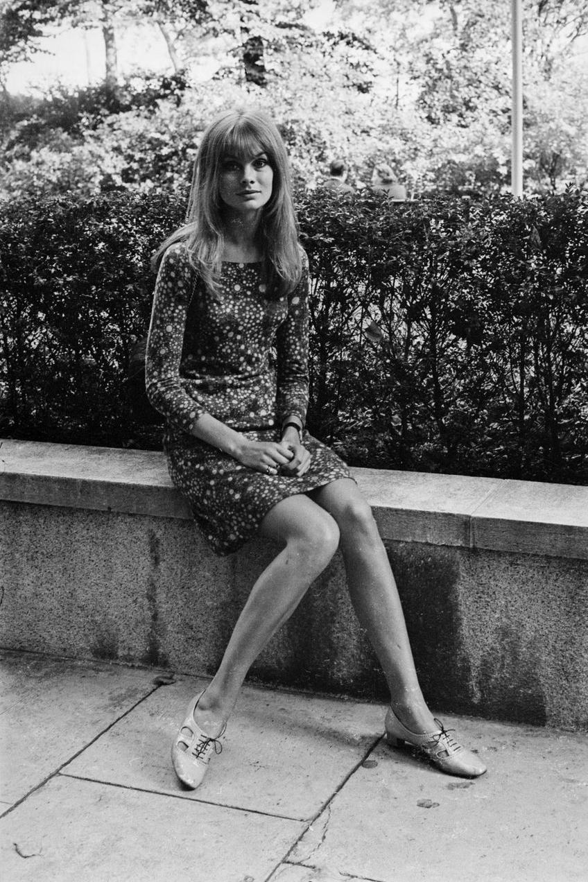Vintage style icon, Jean Shrimpton.