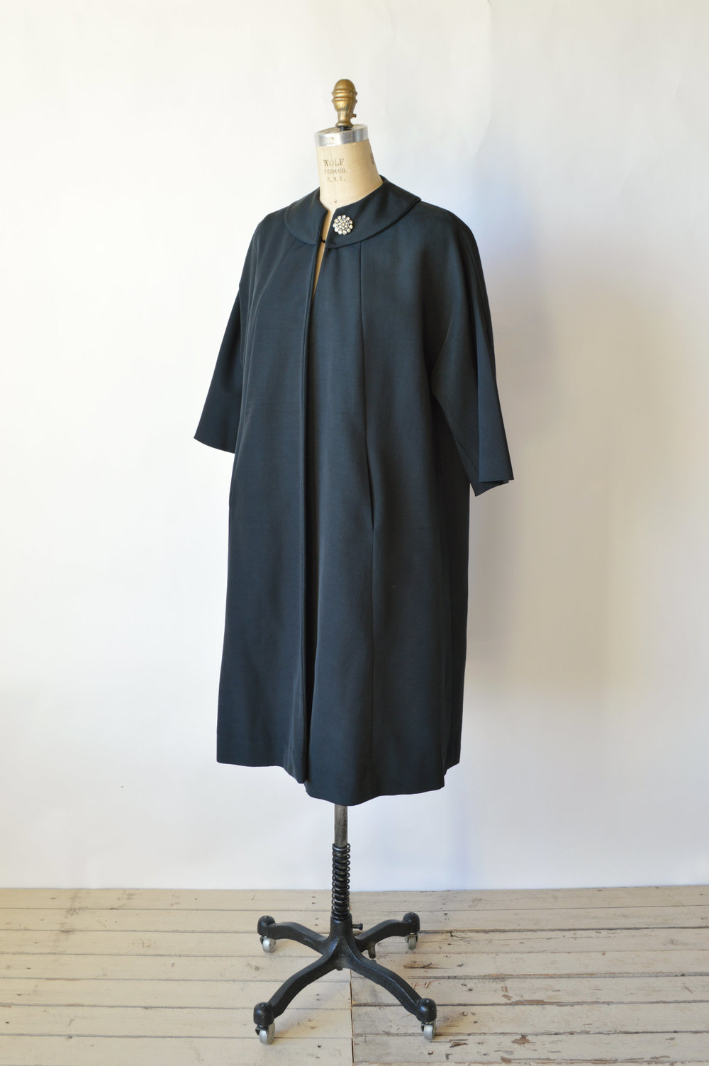 1950's Black Swing Coat