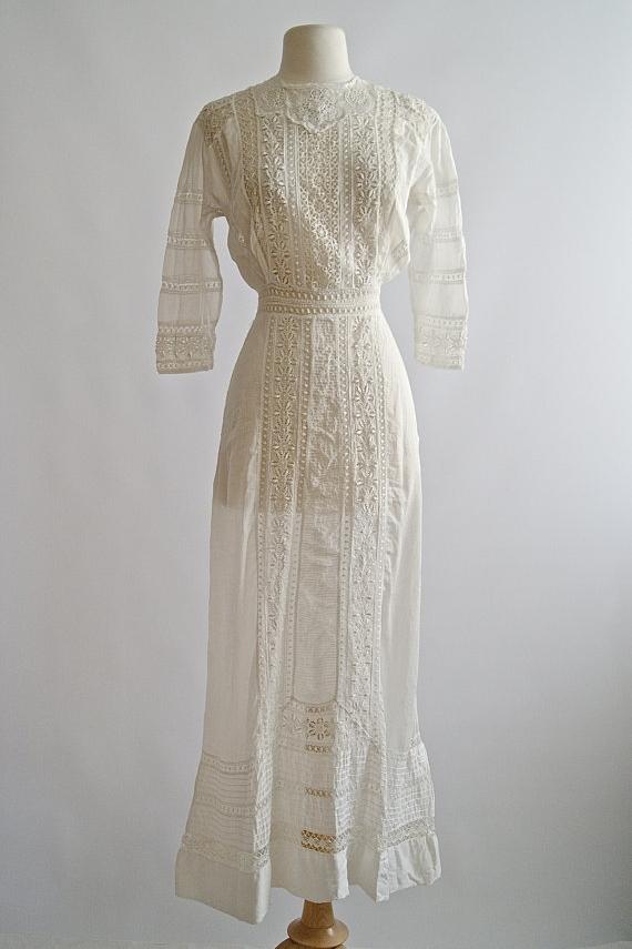 Antique Edwardian wedding dress from Xtabay Vintage