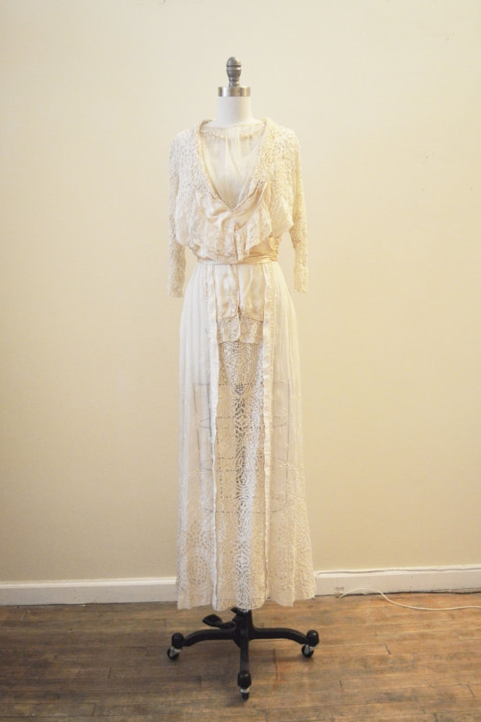 Antique Edwardian wedding dress from Miranda's Vintage Bridal