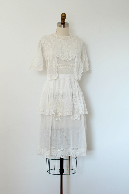 Antique Edwardian wedding dress from La Poubelle Vintage