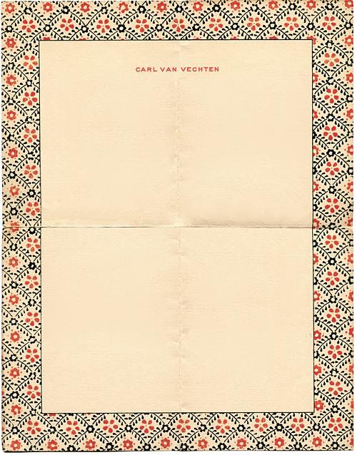 Vintage letterhead from Carl van Vechten