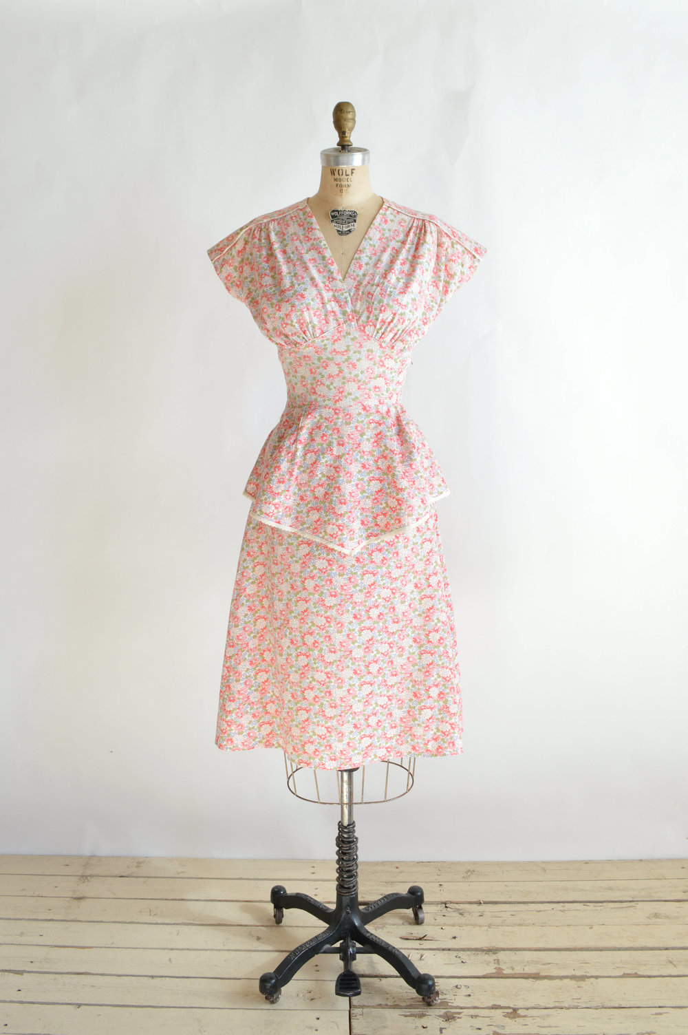 1940s Floral Dress by Dalena Vintage