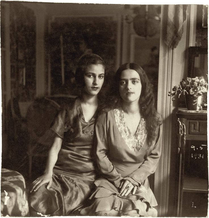Artist Amrita Sher-Gil and her sister