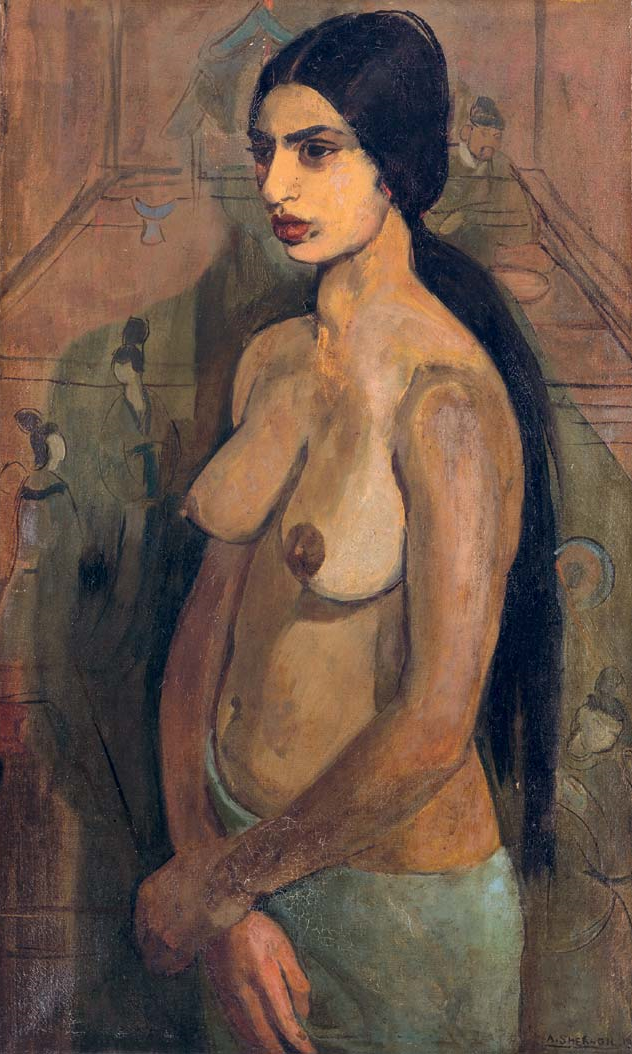 Self-Portrait as Tahitian by Amrita Sher-Gil, 1934