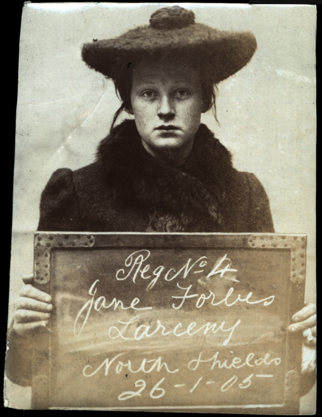Jane Forbes arrested for larceny on 26th January 1905  at   North Shields Police Station. Photo via Tyne & Wear Archives & Museums.