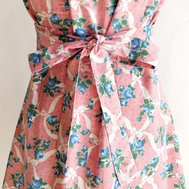 Floral feedsack dress from Dalena Vintage