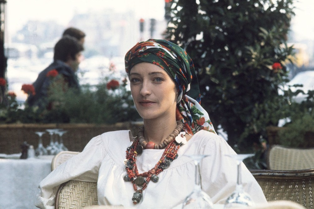 Style icon Loulou de la Falaise in the 1970's.