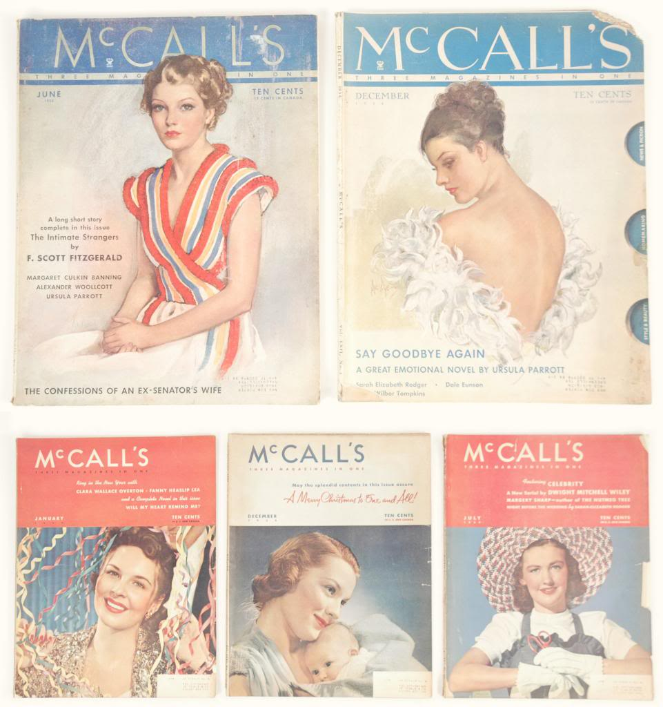 Vintage McCall's magazines from the 1930s