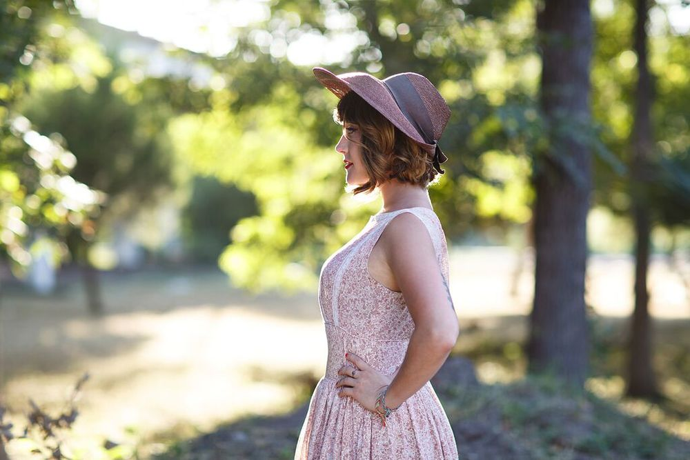 Hailey Tuck in Dalena Vintage. Photo by Nicole Mlakar.