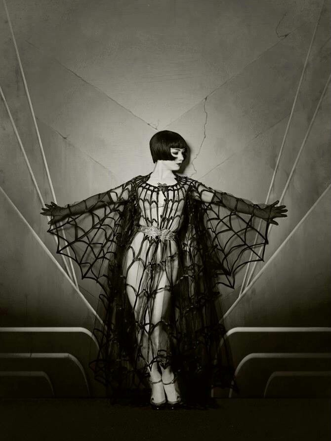 Louise Brooks in a spider web costume