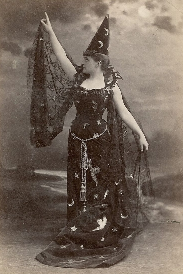 Victorian witch costume, 1885