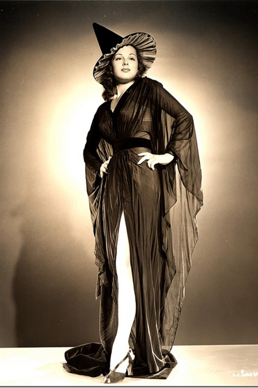 Hollywood actress Lucia Carroll as a Halloween witch pin-up girl  sc 1 st  Dalena Vintage & 15 Vintage Halloween Costume Ideas u2014 Vintage Clothing Store Online ...