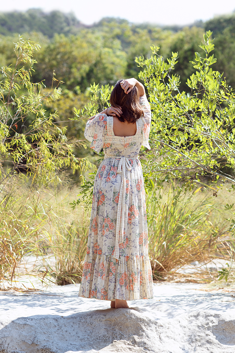 Vintage maxi dress from Dalena Vintage. Photo by Nicole Mlakar.