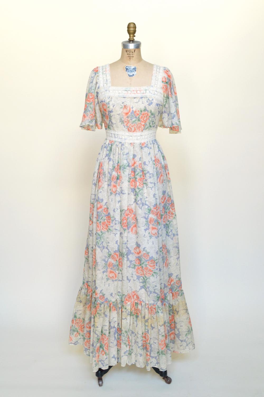 Vintage maxi dress from Dalena Vintage.