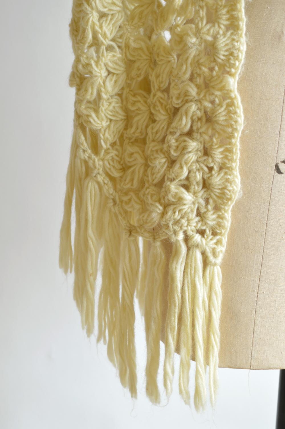 Vintage 1970's crochet shawl
