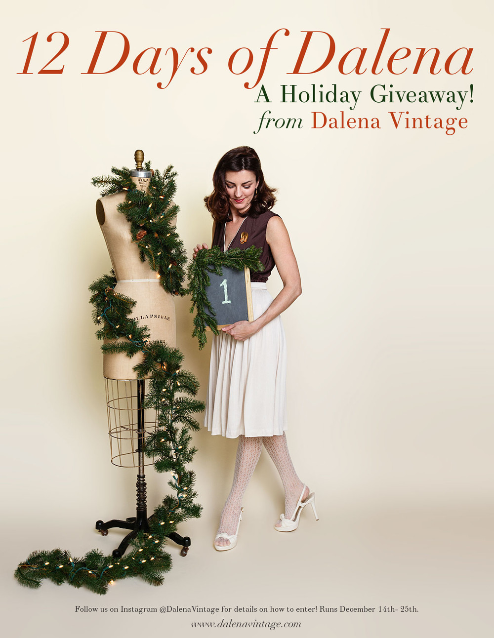 12 Days of Dalena, a holiday giveaway from Dalena Vintage.