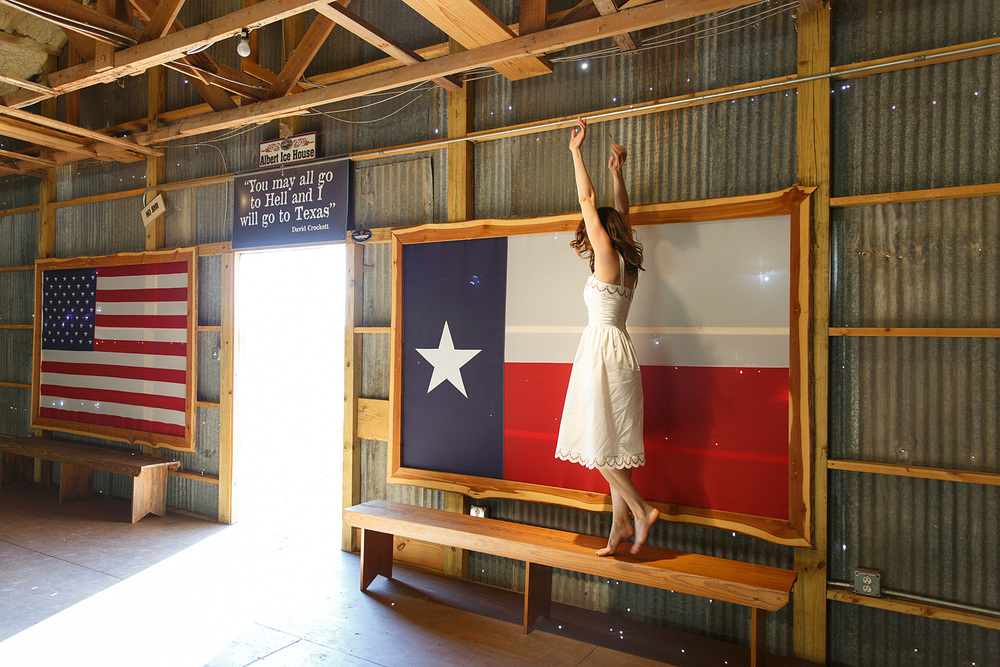 Leslie of Dalena Vintage at the Albert Dance Hall in Albert, Texas. Photo by Nicole Mlakar.