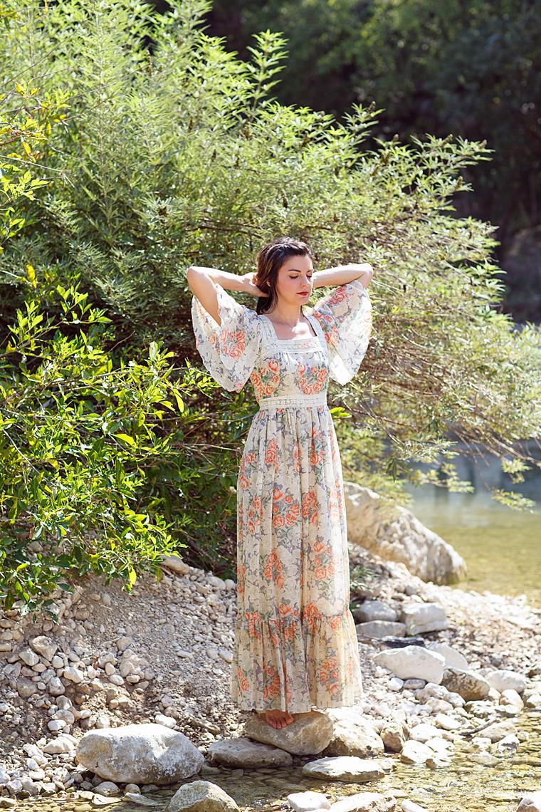 Vintage 1970s maxi dress from Dalena Vintage