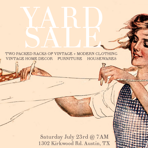 Vintage yard sale in Austin, Texas! Vintage steals from Dalena Vintage and Dalena's Attic at insanely low prices...Nothing over $40!