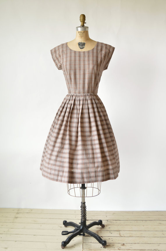 Vintage plaid dress from Dalena Vintage