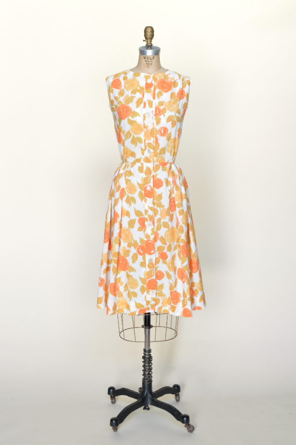 1960s floral crepe dress from Dalena Vintage