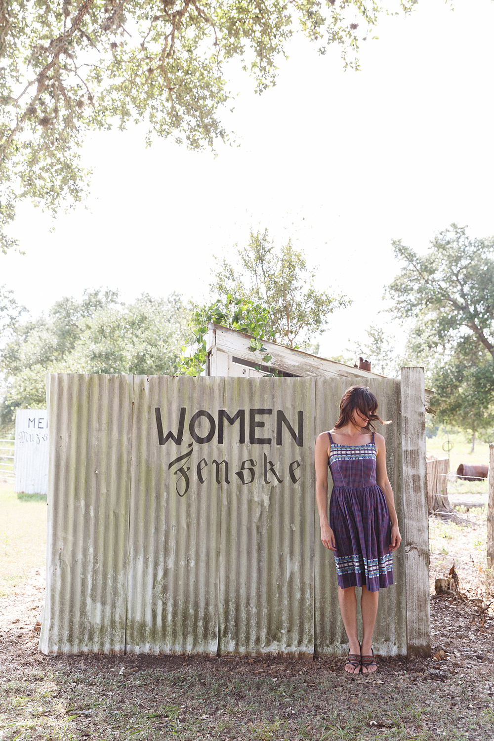 Public restrooms outside of Saints Cyril and Methodius Church in Dubina, Texas. Photo by Nicole Mlakar.