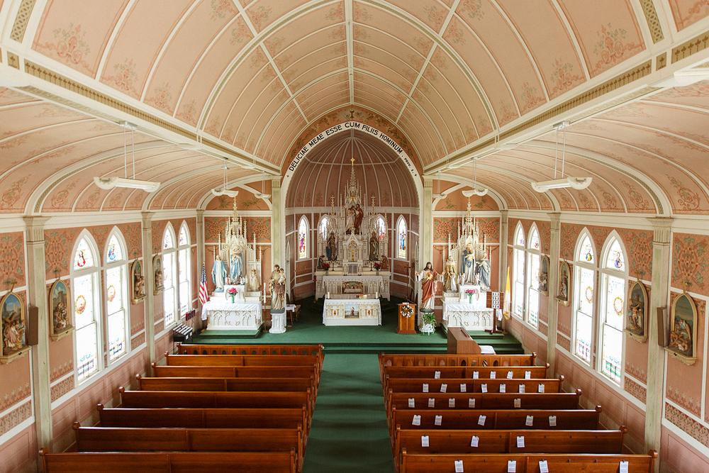 St. John the Baptist Catholic Church in Ammansville, Texas.