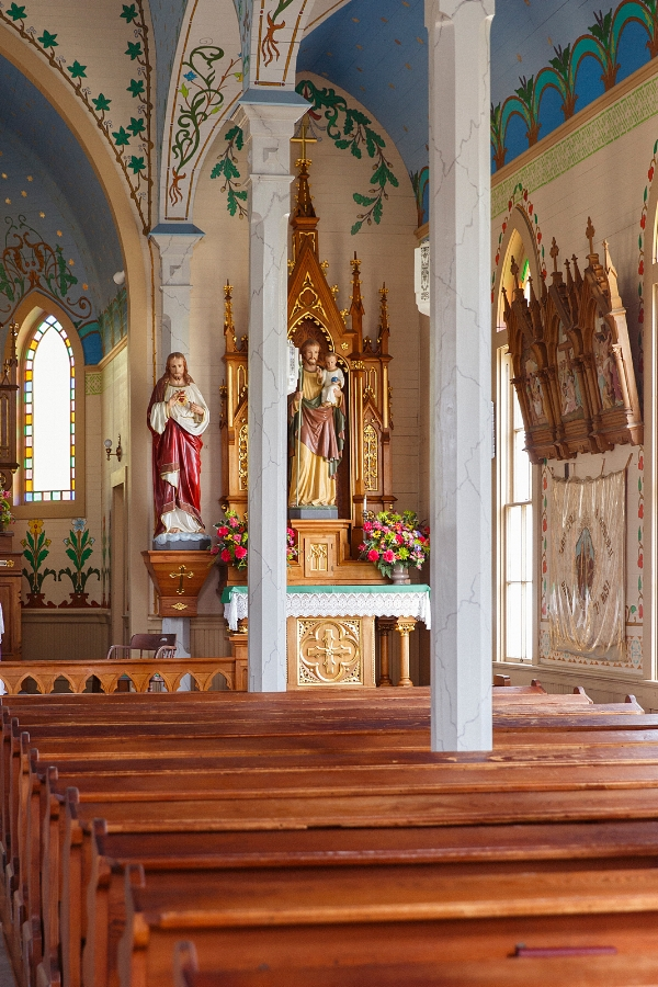 Saints Cyril and Methodius Church in Dubina, Texas. Photo by Nicole Mlakar.