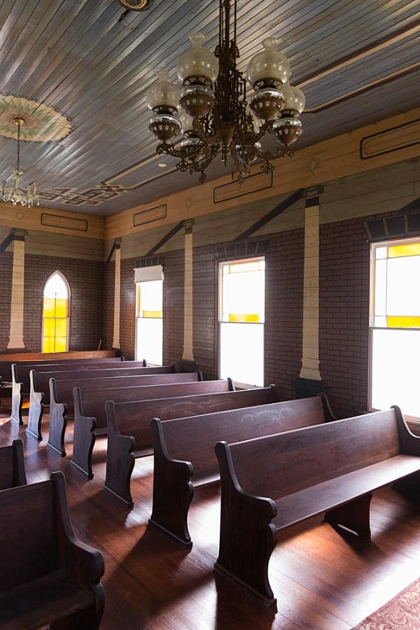 Wesley Brethren Church in Wesley, Texas. The oldest of the Painted Churches of Texas.