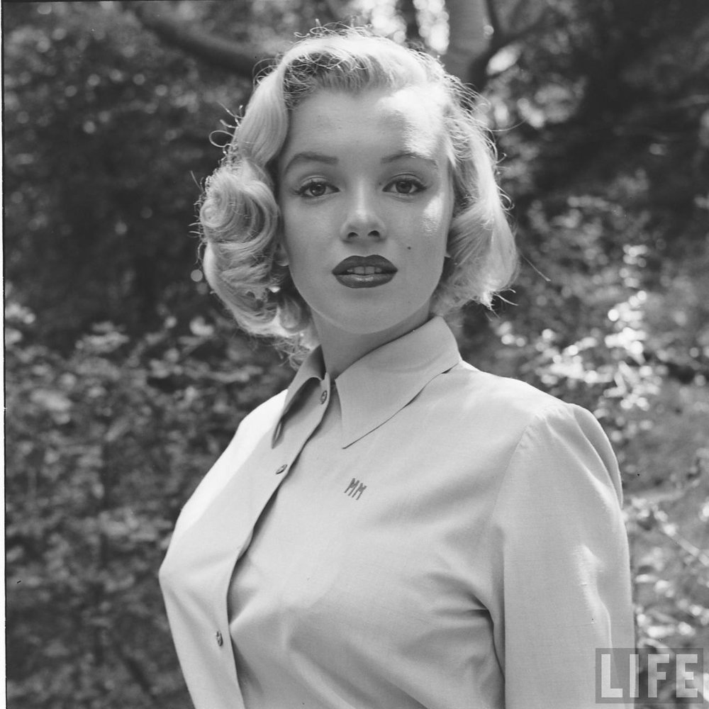 Marilyn Monroe in August 1950. Photographed by Edward Clarke.
