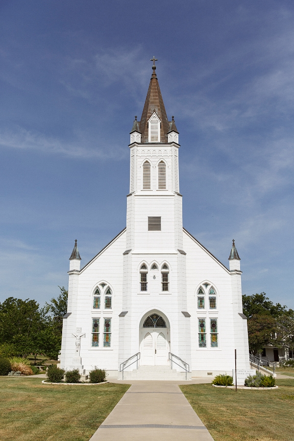 St. John the Baptist Catholic Church in Ammansville, Texas.
