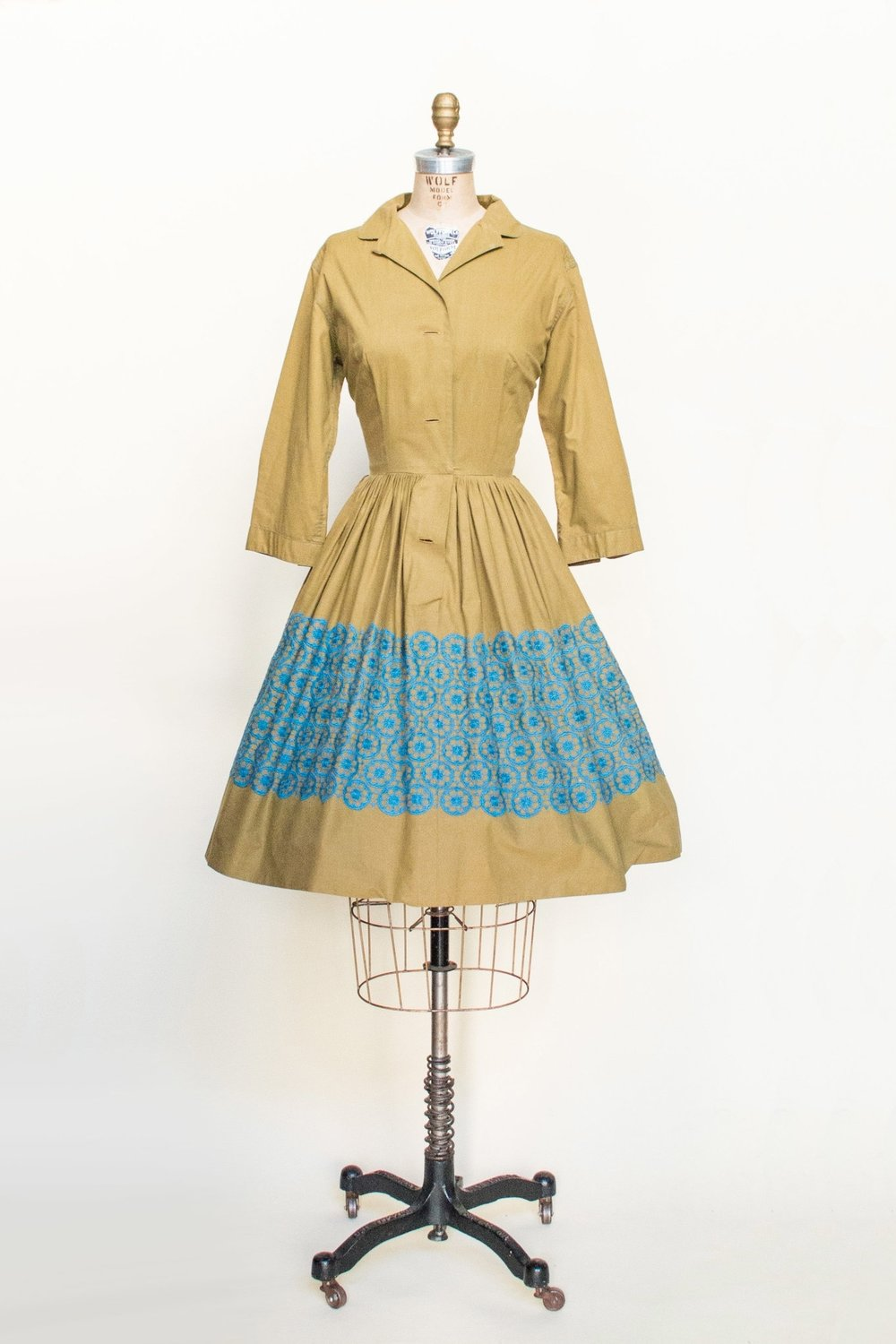 Vintage 1950's day dress from Dalena's Attic.