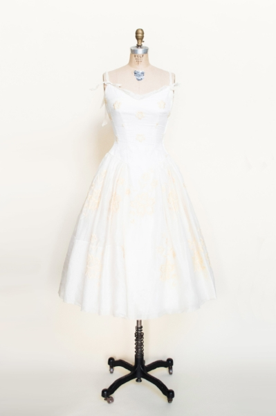 1950s wedding dress from Dalena's Attic