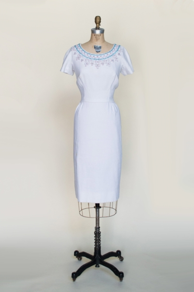 Vintage 1950's dress from Dalena's Attic.